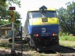 LIRR Train 203 heads west through the K Block limit signal