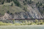 Eastbound Royal Canadian Pacific Luxury Tour Train powered by EMD FP9A's No. 4107 and No. 4106