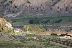 A CP Rail (Canadian Pacific Limited - CP) Freight Train rounds the bend