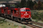 Westbound CP Rail (Canadian Pacific Limited - CP) Freight Train led by GE ES44AC No. 8824