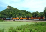 BNSF 5410 and BNSF 5239 meet