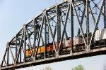 Southbound over the McClellan-Kerr Arkansas River Navigation System bridge
