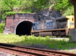 CSX 463 shoots into the tunnel