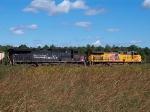Stopped coal train