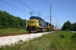 CSX under the wires in Indiana