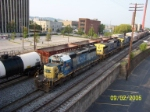 CSX 8096 leads northbound towards 24th street