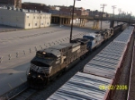 NS 9402 leads southbound NS coal train