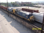 CSX 5531 leads southbound CSX train M735