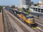 UP 4891 leads northbound NS train 130