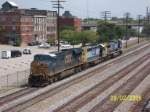 CSX 5240 leads southbound set of light engines