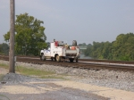 High Rail Truck Passing the TrainShed