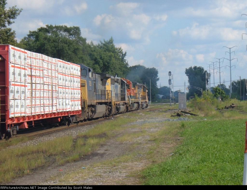 BNSF 6360, 8621, CSX 8146 & 7825