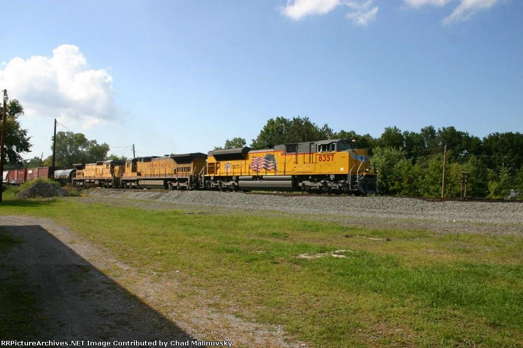 UP 8357 mustles 14A eastward