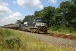 NS 8941 heads a BP Amoco tank train
