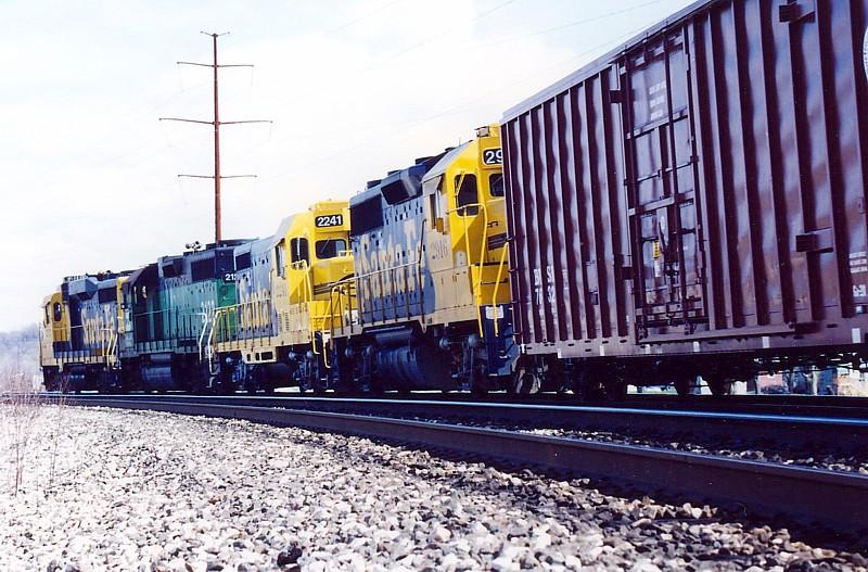 Freight train superelevates