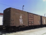 Old Army Boxcars