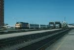 Massachusetts Bay Transportation Authority Commuter Train led by EMD FP10 No. 1100
