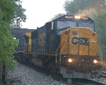 CSXT 8743 (SD60I) ex CR 5630 (SD60I) in a driving rain