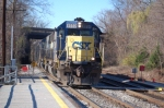 CSX 8550(SD50) ex SBD 8550 (SD50) leads the eastbound rock runner