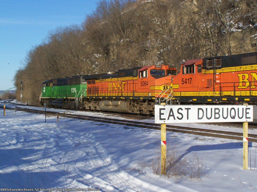 This Lashup was Taking a Long Iron Ore Train North to LaCrosse, WI