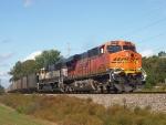 BNSF 5781 & BNSF 9822 Lead a Coal Train
