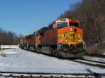 BNSF 7675 Leads a Southbound Piggyback Train