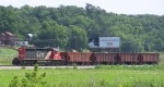 IC 6200 Pulls 4 CN Hoppers Westbound