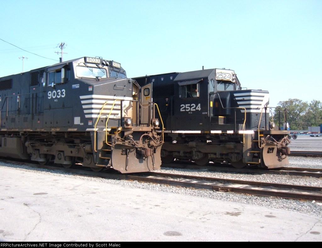 NS 9033 & 2524 (Landers Yard)
