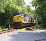 CSX 541 switches empty coal cars at the PEPCO plant