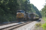 CSX 5205 and MARC train meet
