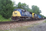 CSX 721 leads coal cars through the S curve