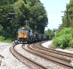 CSX 4713 leads an eastbound coal train