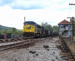 CSX E725 westbound passes HO Tower