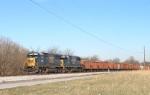 CSX ballast train WO6704