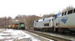 CSX X386 (a reroute) meets the westbound Capitol Limited