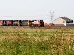 BNSF 685, NREX 6454, BNSF 6945, and HLCX 6514