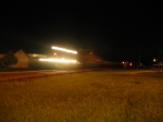 Q103 flys through Folkston at night