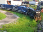 ex-NS and BC rail C30-7's awaiting shipment to Brazil