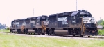 NS 7142 is with two other GP60's basking in the summer sun