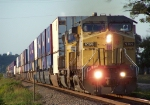 Southbound Intermodal With UP 9709 C44-9W