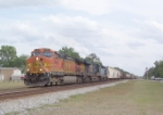 BNSF 4545 on Q608 heading north