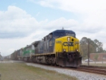 "CSX 454 ""Spirit of Magnolia"" on Q609 heading south"