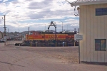 BNSF 4957 on turntable in BNSF yard