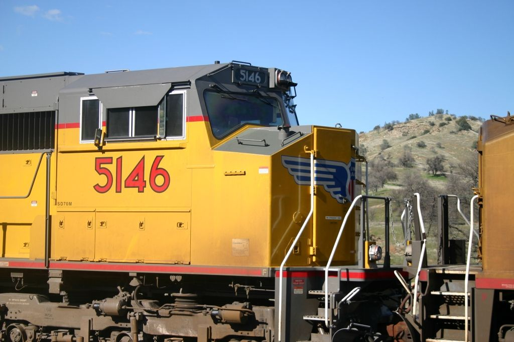 Nose Detail shot of UP's last batch of SD70M's