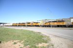UP Intermodal Meets the MOW train at Summit