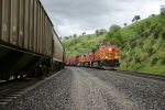 BNSF 5485 leads the Barbak to Bakersfeild