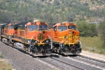 BNSF paint schemes side by side