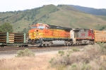 BNSF DPU's push a Manifest up the Hill