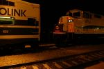 Metrolink lines up for the night