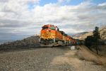 BNSF 5183 Under Cloudy Skies